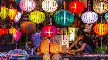Coloured lanterns in the streets of Vietnam | Richard I'Anson