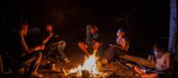 Relaxing evenings around the campfire