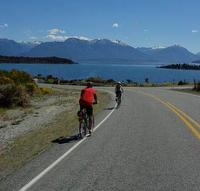 Cyclists on Milford Road heading towards Lake Te Anau -  Photo: Adventure South