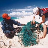 Clearing nets and marine debris from Arhnem Land Coastline -  Photo: Dhimurru Land Management