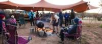 The guides still use traditional outback cooking over the open fire in the Larapinta Campsites | Caroline Crick