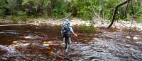 Tackling a river crossing on Tasmania's South Coast Track | Michel Gueneau