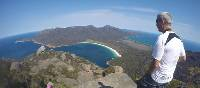 Looking down towards Wineglass Bay from the top of Mt Amos | Brad Atwal