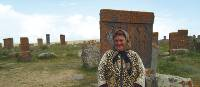 Local Armenian woman at Noraduz Cemetery