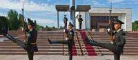 The changing of the guard at Ala-Too Square in Bishkek | Peter Walton