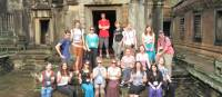 Group shot time at Angkor Wat