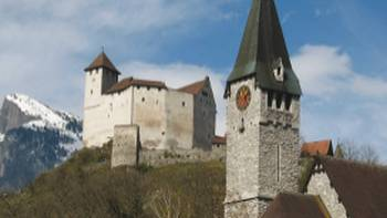 The village of Balzers in Liechtenstein