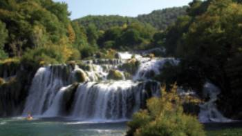 Picturesque Krka National Park in North Dalmatia, Croatia
