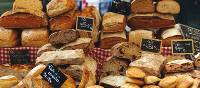 Fresh Breads at Local Market in Provence