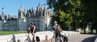 Cycling at Chambord chateaux in the Loire Valley
