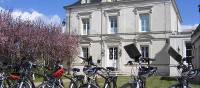 Bikes in front of a group hotel in the Loire Valley