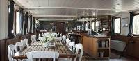 Magnifique I dining and bar on Category A+ barge