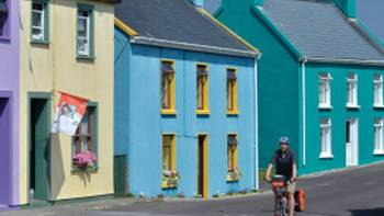Colourful streets cycling through Bantry