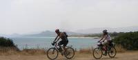 Cycling along quiet coastal roads in Sardinia