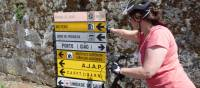 Self guided cyclist making her way from Porto to Santiago | Pat Rochon