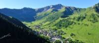 The beautiful village of Steg sits in the valley below Schoenberg peak | Liechtenstein Marketing