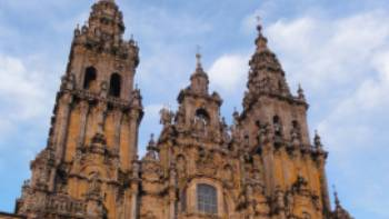 The famous cathedral in Santiago | Erin Williams