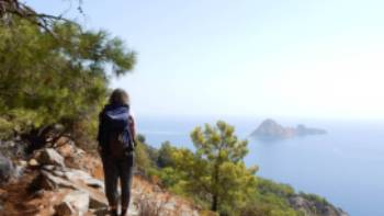 Taking in the view from Cape Gelidonia on the Lycian Way in Turkey | Lilly Donkers