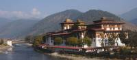 The magnificent Punakha Dzong positioned on the banks of the Mo Chhu | Liz Light