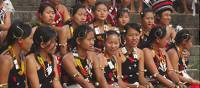 Young girls at Hornbill Festival in Nagaland