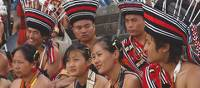 A group of youths at the Hornbill Festival, Nagaland