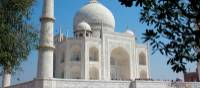 Intricate designs of the Taj Mahal from within the gardens | Rachel Imber