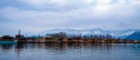 Views across Dal Lake in Kashmir