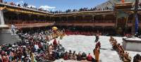 Several hundred Ladakhi villagers from throughout the Indus Valley attend the Hemis festival. | Adam Mussolum