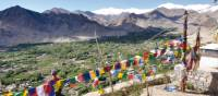 Landscape view with a mountainous backdrop in the Indian Himalaya region, Ladakh | Adam Mussolum