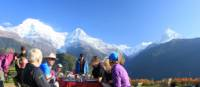 Alfresco breakfast at Gandruk with superb mountain views | Brad Atwal
