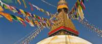 Prayer flags adorn Bodnath Stupa in Kathmandu | Peter Walton