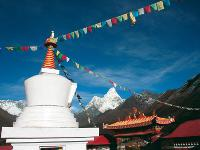 Views out to Ama Dablam, Everest region, Nepal |  <i>Neill Prothero</i>