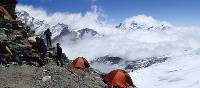 Camp among the clouds at our Mera Peak high camp | Malcolm Leary
