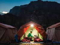 Sunrise at the Monjo campsite |  <i>Mark Tipple</i>