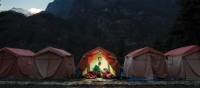 Comfortable camping in Nepal at our semi-permanent campsites | Mark Tipple
