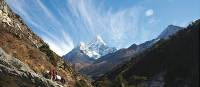 Heading towards Ama Dablam in the Everest region | Nadine Noel