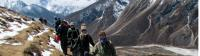 Smiling trekkers at high altitude, Nepal |  <i>Amanda Fletcher</i>