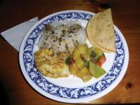 Local meal prepared for dinner while trekking Nepal |  <i>Heike Krumm</i>