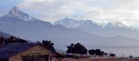 Beautiful views of Machapuchare and the Annapurna range from camp | Erin Williams