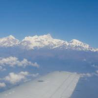 Flying over the stunning Himalayan mountain range |  <i>Erin Williams</i>