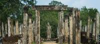 Ruins at the ancient site of Polonnaruwa include rock sculptures | Caroline Mongrain