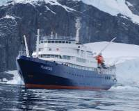 The Plancius anchors in Antarctica |  <i>Scott Pinnegar</i>