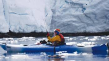 Kayaking is an optional activity on many of our polar voyages | Valerie Waterston