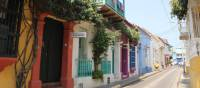 Stroll through the colourful streets in Old Town, Cartagena