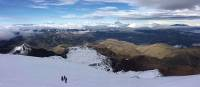 Descent of Chimborazo volcano, the highest mountain from the earth's centre
