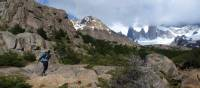 Crossing rugged terrain in Fitz Roy National Park | Maude Gamache-Bashille