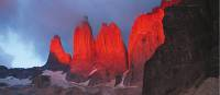 The dramatic granite spires of Torres del Paine at sunrise | Alan & Julie Marshall