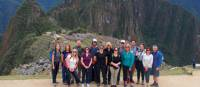 Group photo taken in front of the iconic Machu Picchu | Michelle Worthley
