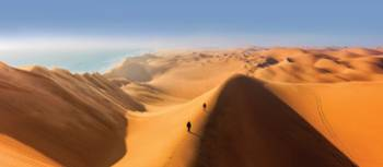 The sand dunes of Sossusvlei are the highest in the world