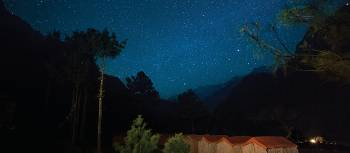 Night shot over the campsite at Monjo | Mark Tipple